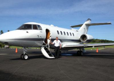 Jim Jacobi with plane
